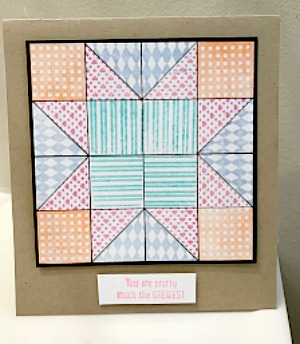 Faux Quilted Stamped Card