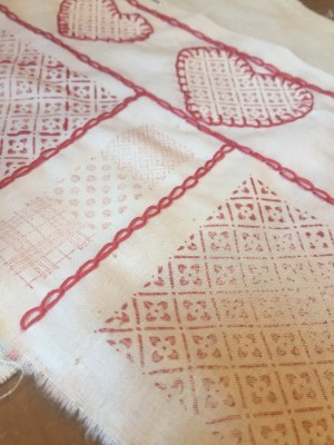 Red Work Inspired Sampler