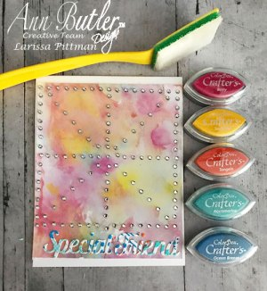 Creating a Rhinestone Watercolor Card
