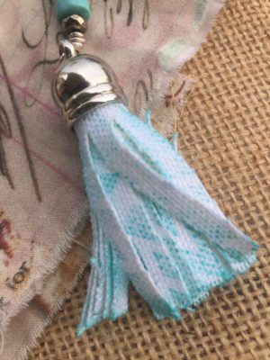 Fabric FOB with Crafter's Ink