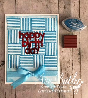 Ocean Breeze Striped Birthday Card