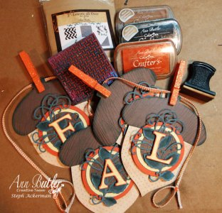 Inked and Stamped Fall Acorn Banner