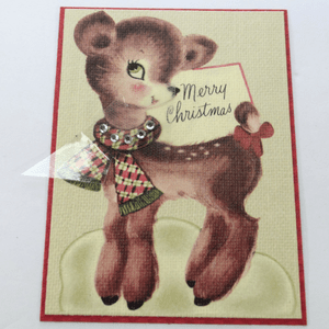 Delightful Rhinestone Christmas Card