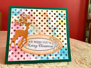Quick and easy pigment ink background card