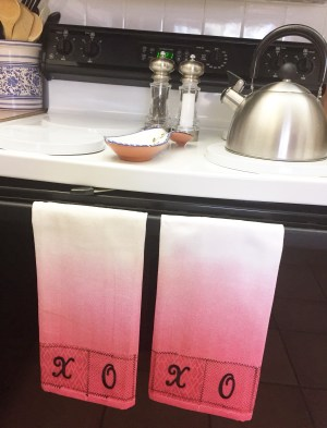Valentine's Day Hugs and Kisses Kitchen Towels