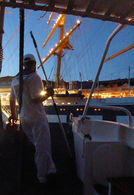 Returning to Royal Clipper. Going home in more than one sense of the word.