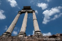 Temple of Castor and Pollux, the Gemini, at the Forum. Photograph, Ann Fisher.