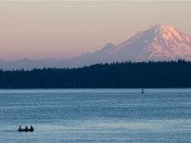 View of Mt. Rainer from my Home Away rental