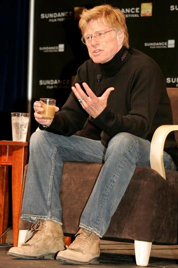 Redford answers questions during a press conference to open the 2007 Sundance Film Festival in Park City, Utah.