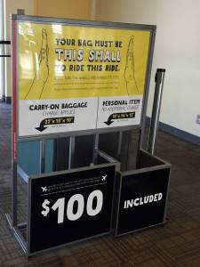 Spirit Airlines Extra fee carry on bags