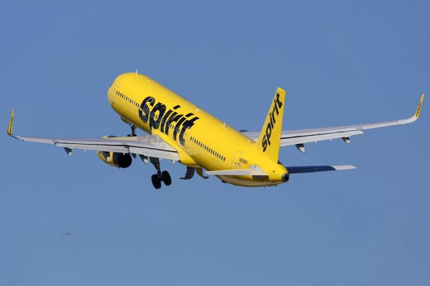 Spirit Airlines. Photograph from 123RF stock photos.