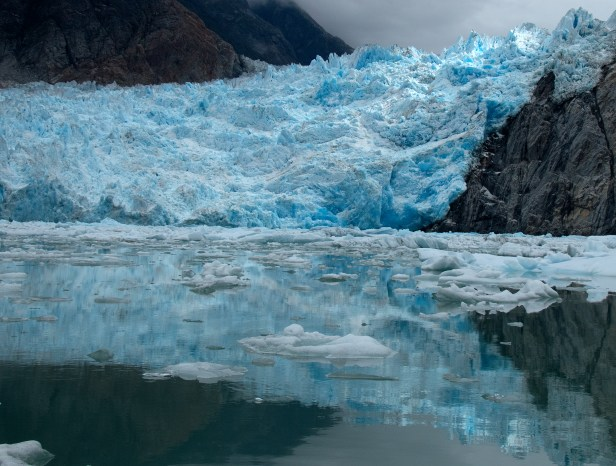 We got close to Sawyer Glacier, and spent about 45 minutes floating there, watching it calve. Photograph, Ann Fisher.