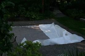 Här syns markduken vi lagt lägst ner