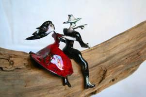 Don Quichotte Email sur cuivre et bois 2008