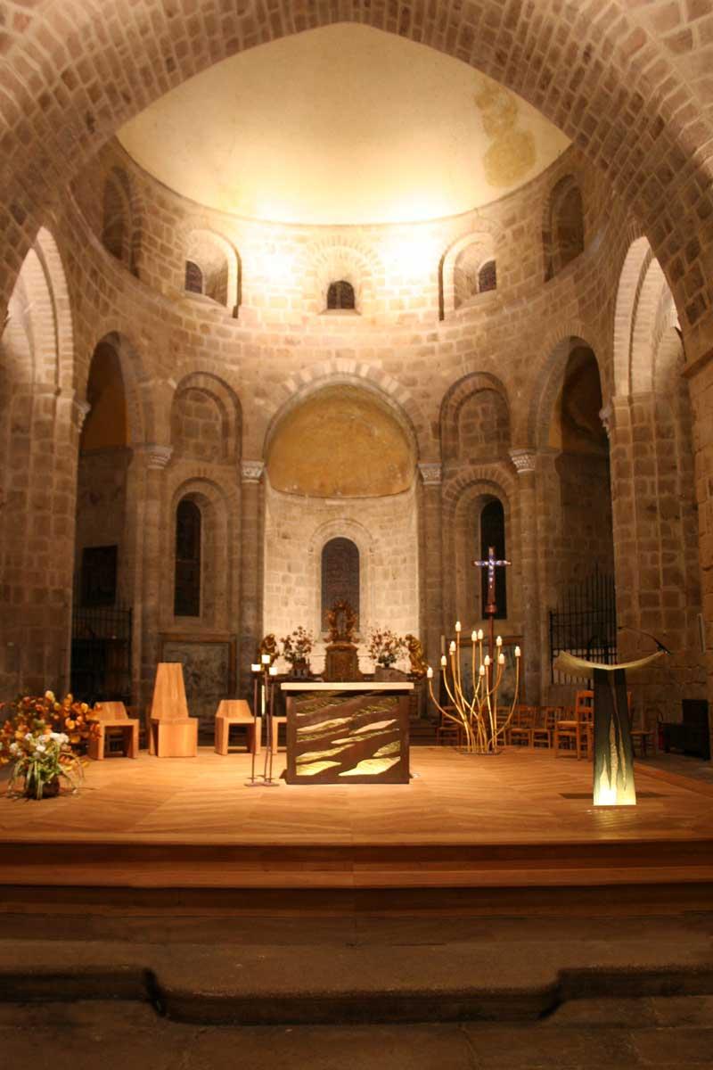 espace liturgique de Solignac : Choeur