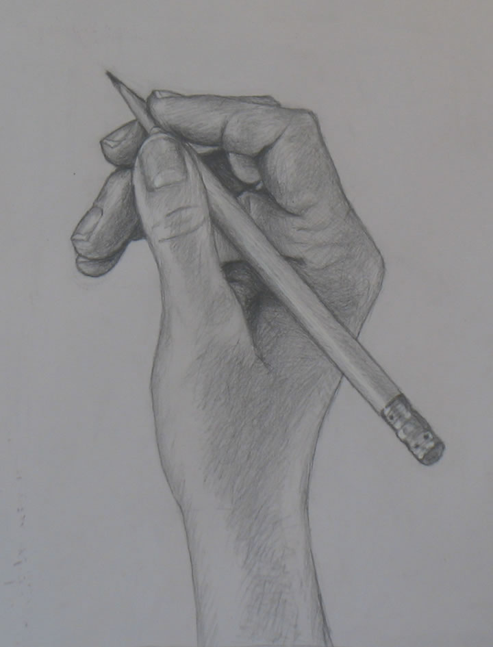 How To Draw A Hand Holding Something : holding, something, Drawing, Tutorial, Holding, Pencil, Portrait, Artist, Westchester,, Bobroff-Hajal