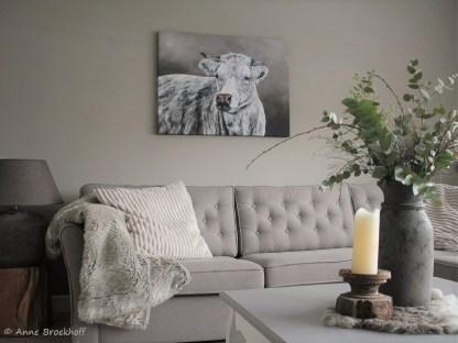 Schilderij koe reproductie landelijk stoer
