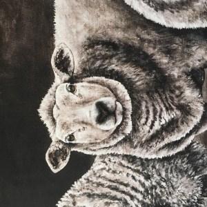 schapen schilderij canvas reproductie landelijk landelijke kunst
