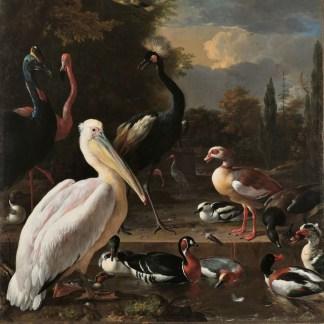 canvas reproductie ouder meesters vogels schilderij