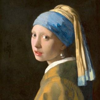 Het meisje met de parel, Johannes Vermeer carvas