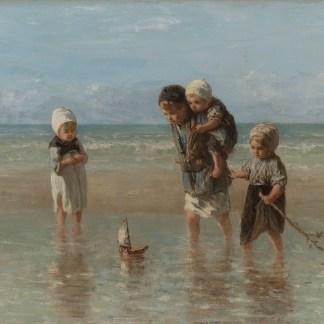 canvas jozef israels kinderen der zee