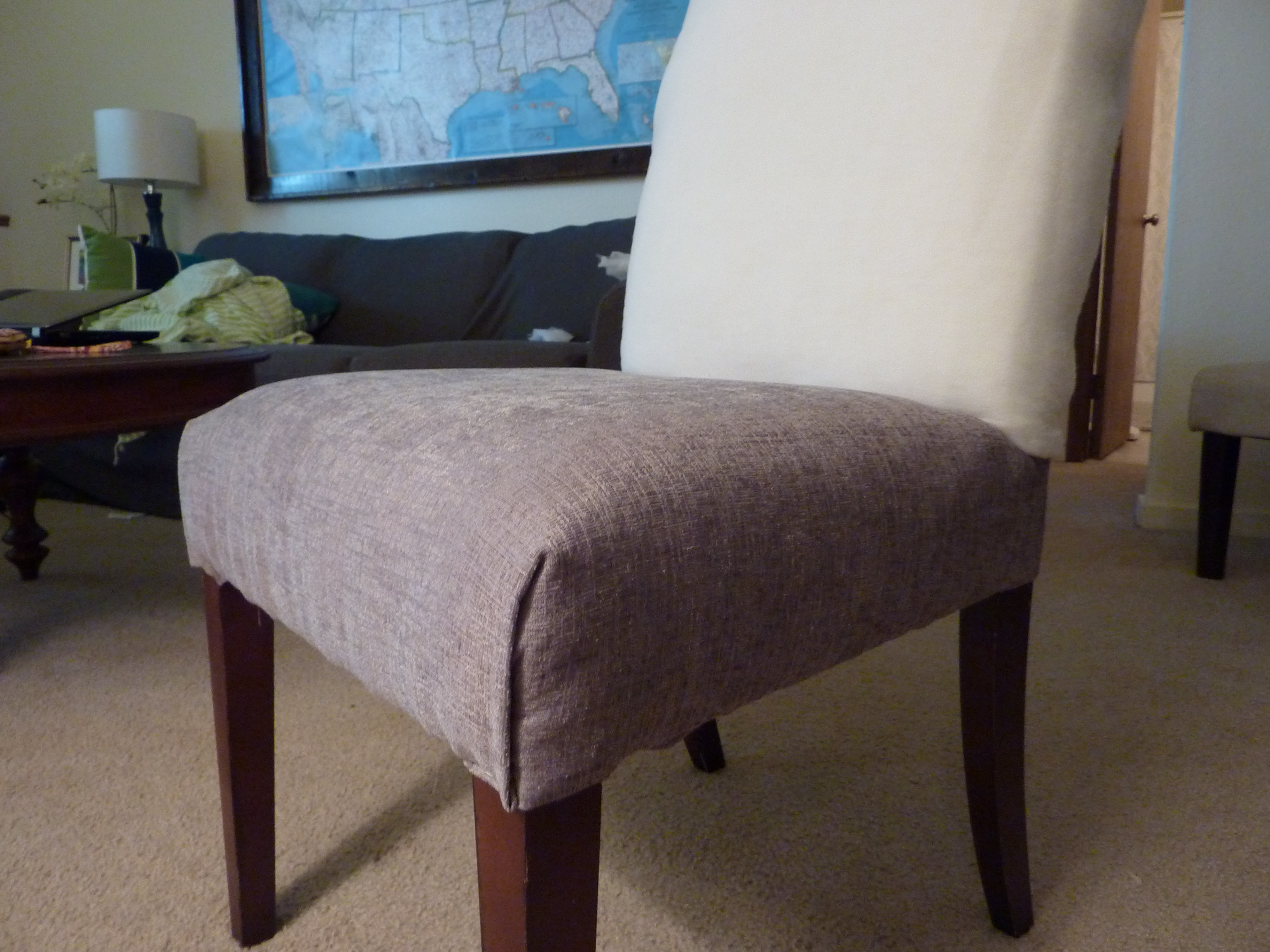 parsons chair cover tutorial bamboo dining chairs reupholstering a part 2 5 in which i