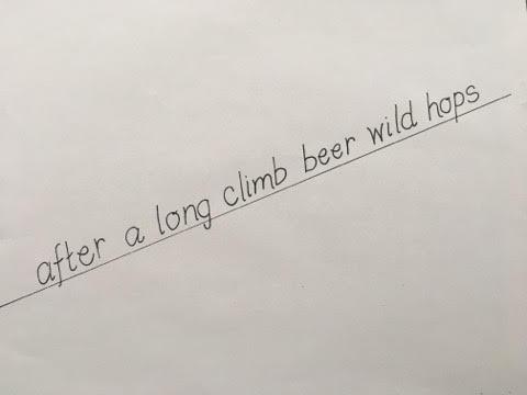 after a long climb