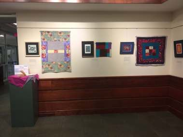 2 Quilts and Prints Exhibit Wall 1