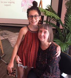 Anne Burgevin with her student Loreli