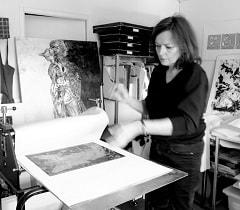 L'atelier d'Anne Carpena Artiste Gravures contemporaines Peintures Dessins