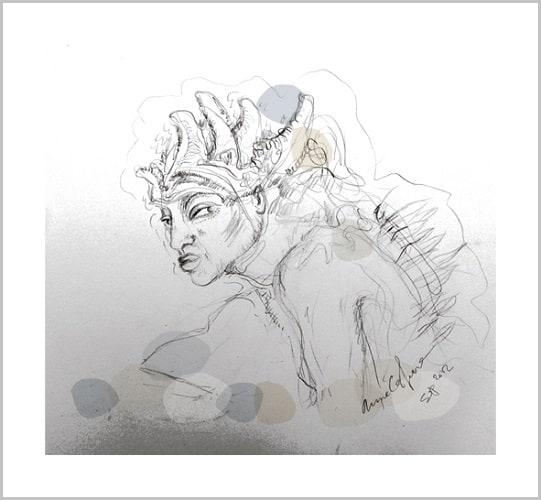 Dessin contemporain Mine graphite Sans titre Anne Carpena