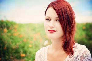 Anne-Christine with red hair