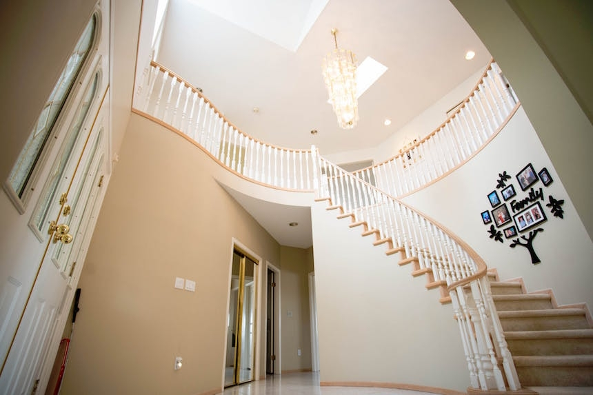 Can You Install Your Own Stair Railing 4 Tips To Diy Home   Diy Handrails For Interior Stairs   Modern   Rounded   Led Str*P Light   Short   Look