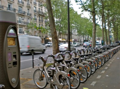 Velib bicycles