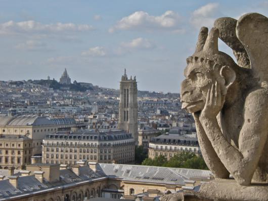 Gargoyle atop Notre Dame, Paris
