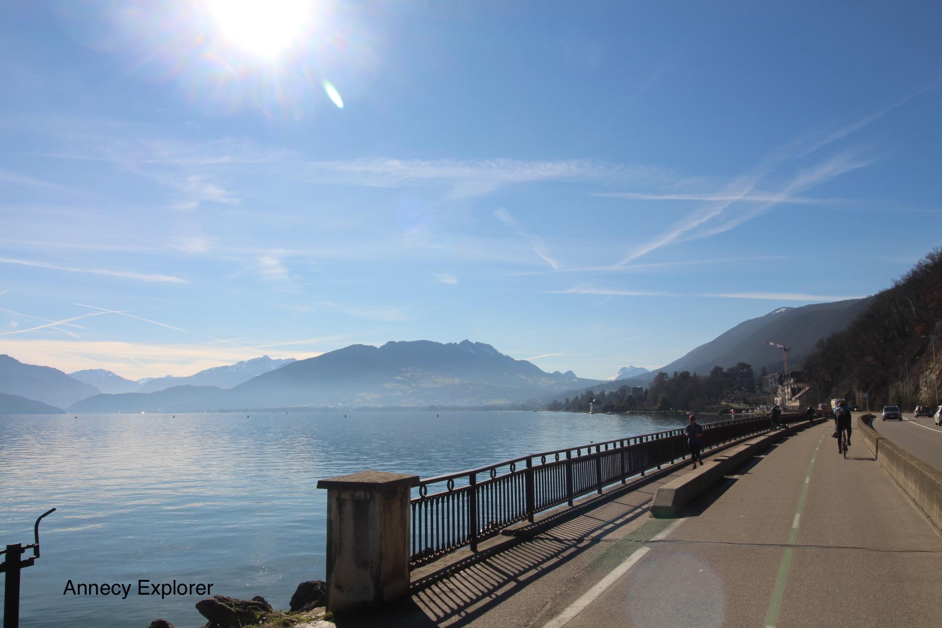 La piste cyclable d'Annecy