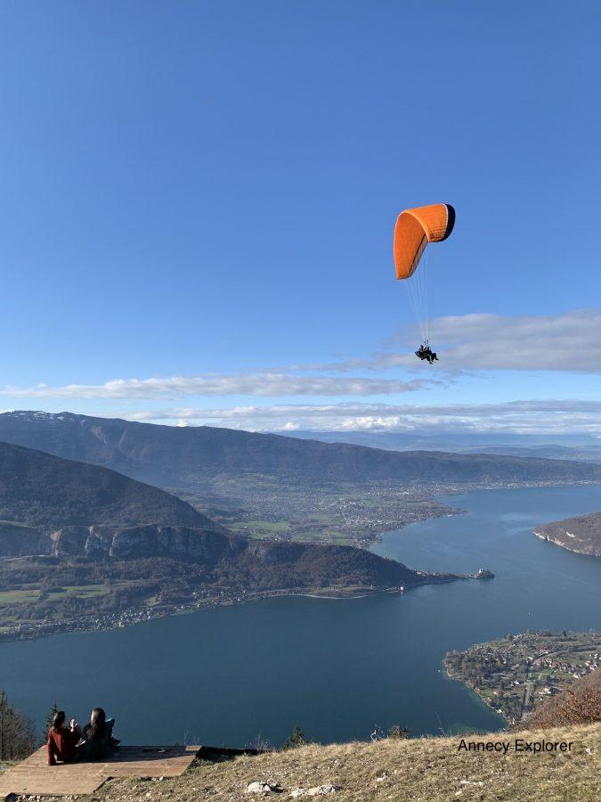 Le Lac d'Annecy b-vue depuis le col de la Forclaz