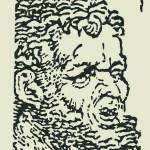 Head of Hercules (enlarged detail from a Dürer print)