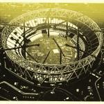 Olympic Stadium With Cranes II