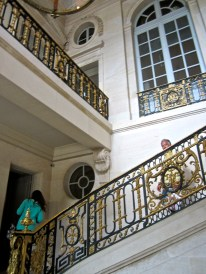Stairs of Honor, inscribed with MA for Marie Antoinette