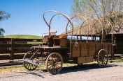 An old wagon--uncovered.