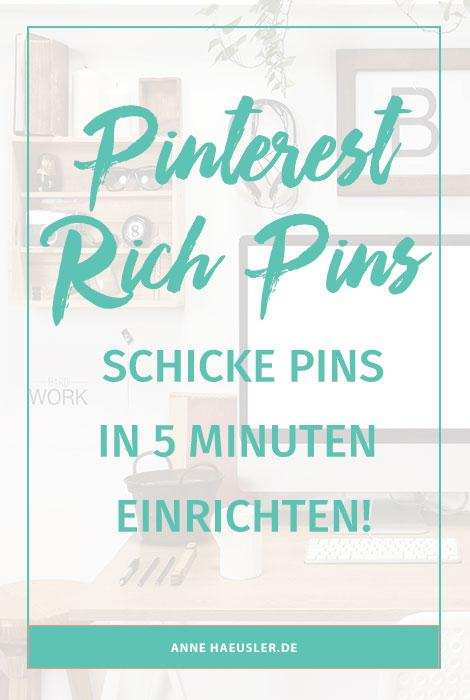 Schicke Pins in nur 5 Minuten. Ich erkläre dir, wie das geht I www.annehaeusler.de