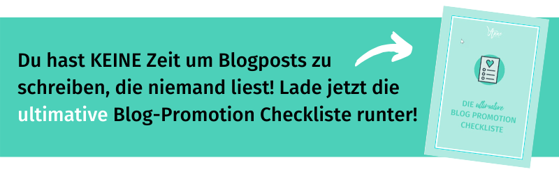 Blog Promotion Checkliste