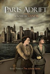 The book cover for 'Paris, Adrift' by Vanda