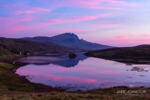 Storr Loch Fada Skye sunrise