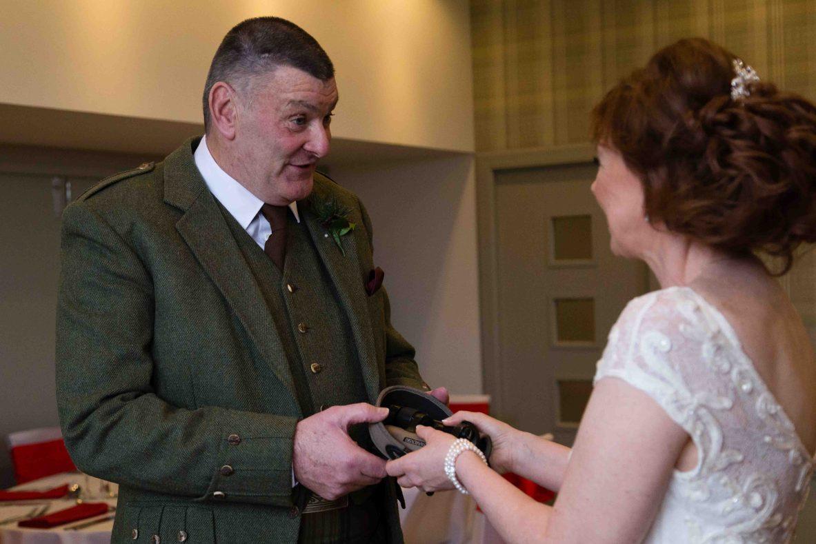 weddings photography binoculars bride groom Glen Clova Angus