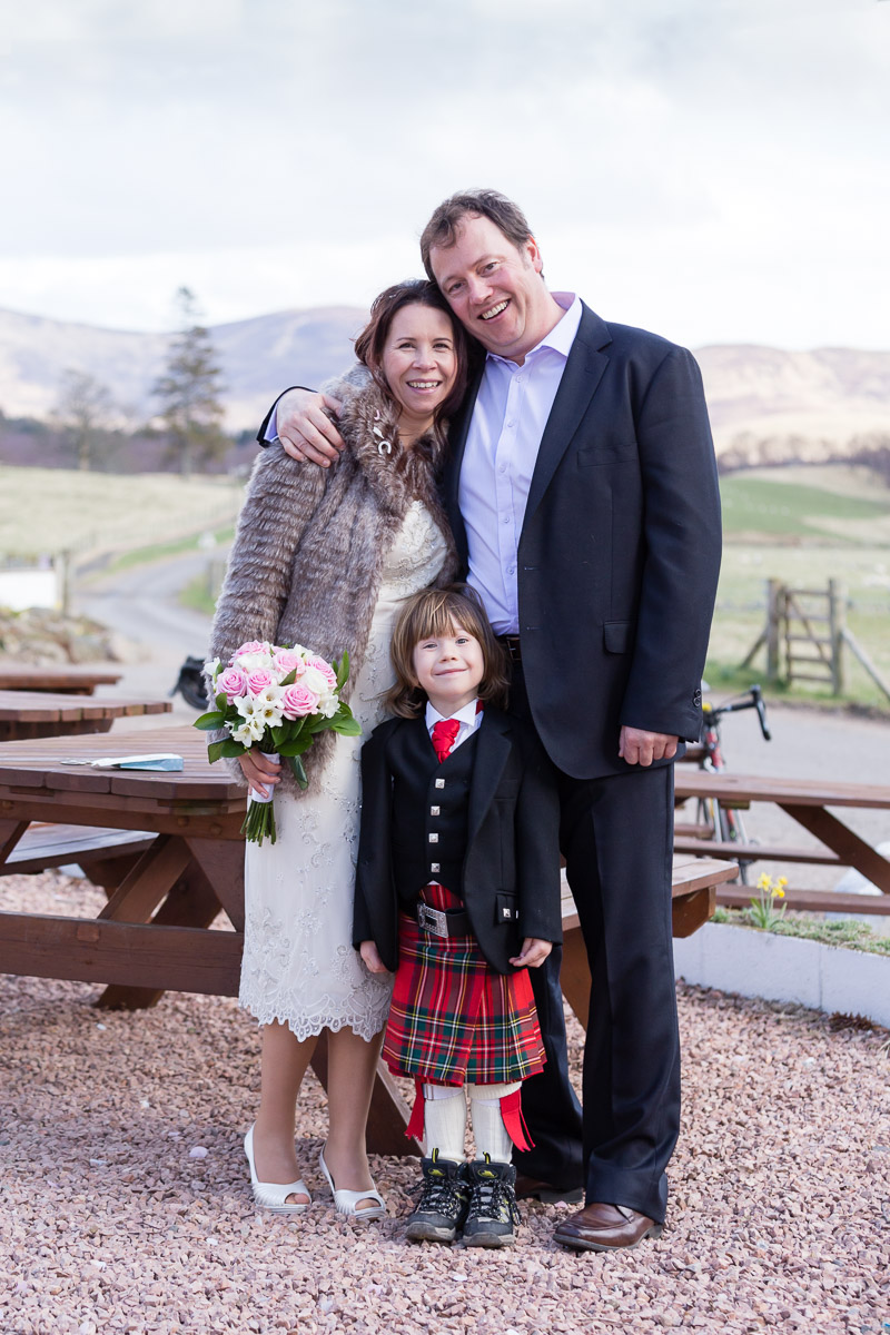 Wedding family Glen Clova Hotel Angus