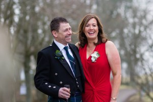Wedding guests at the Glen Clova Hotel