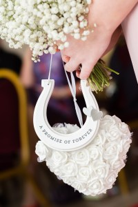 A promise of forever horseshoe and decorative heart