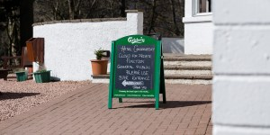 Wedding sign Glen Clova Hotel Angus